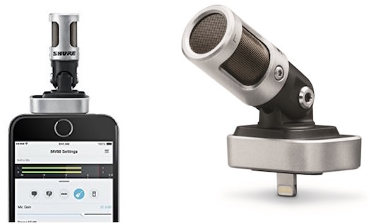 microfono iphone shure motiv mv88