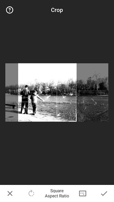 esempio ritaglio foto snapseed