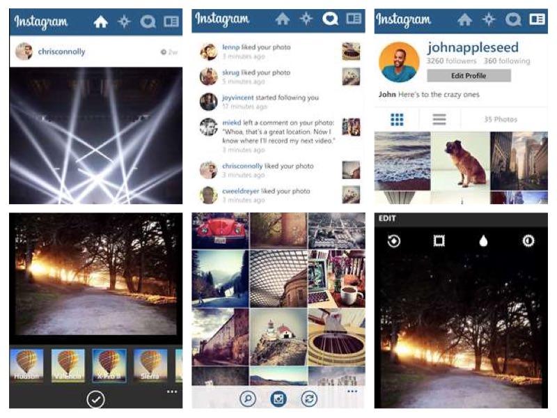 instagram beta telefoni windows