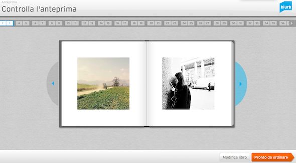 creare un libro su blurb con instagram