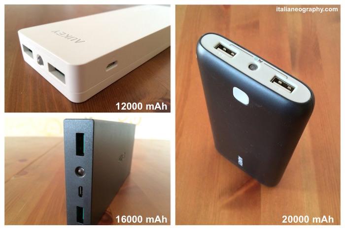 batteria aukey confronto alta capacità