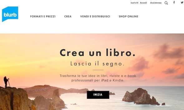 come creare un libro su Blurb italia