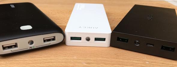confronto 3 batterie esterne aukey