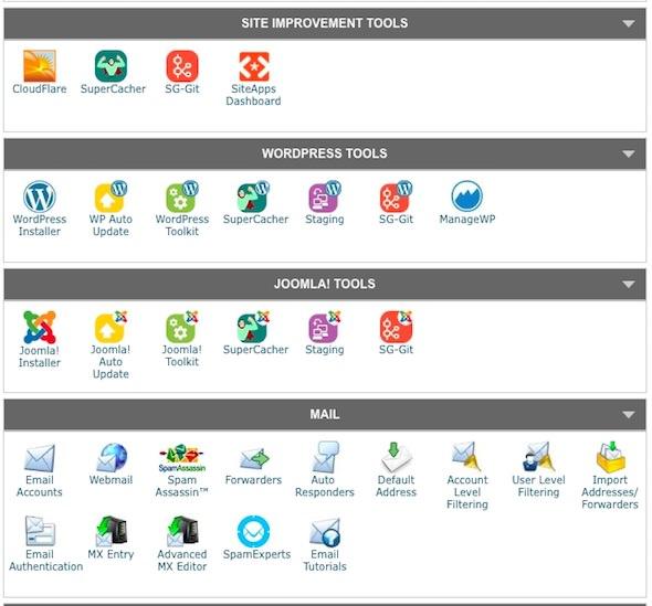 email ed installazione siteground per wordpress
