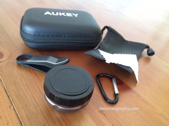 lente aukey 3x obiettivo smartphone