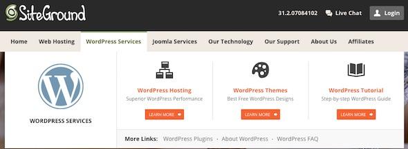 servizi offerti siteground esperienza