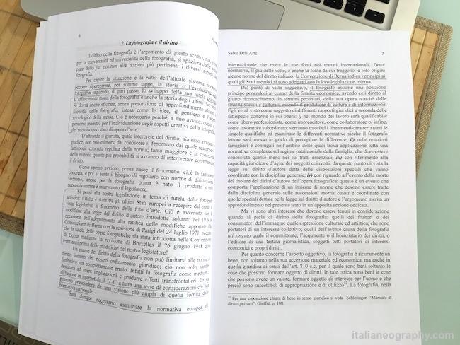 libro fotografia e diritto salvo dell'arte