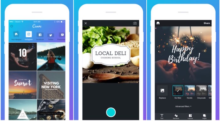 Canva app design ora universale per iphone e ipad for App per design