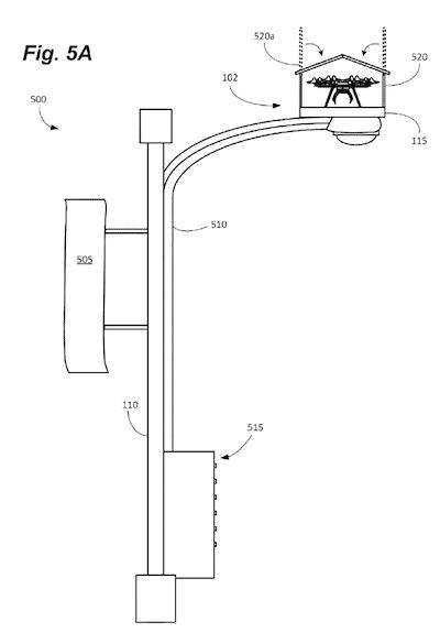 brevetto amazon droni lampioni