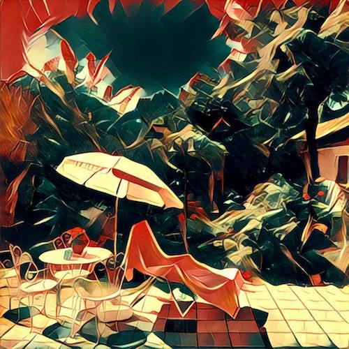 prisma dipinto ombrellone