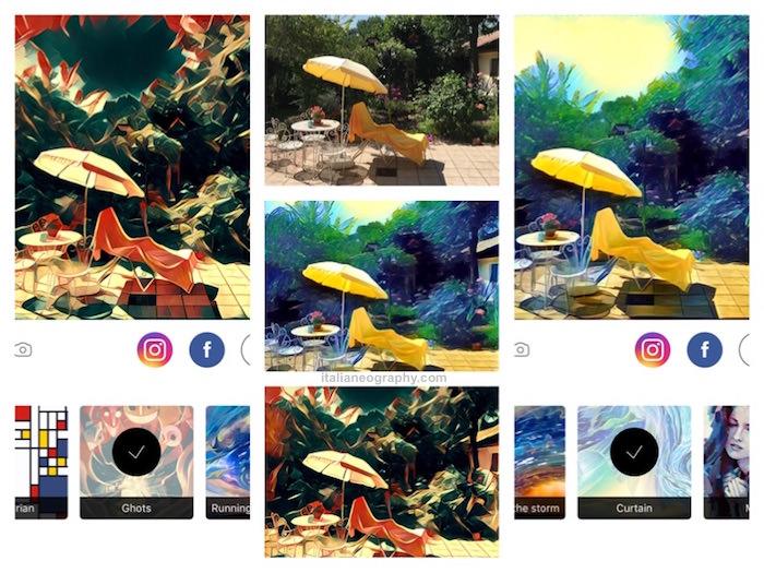 trasforma foto dipinto prisma iphone