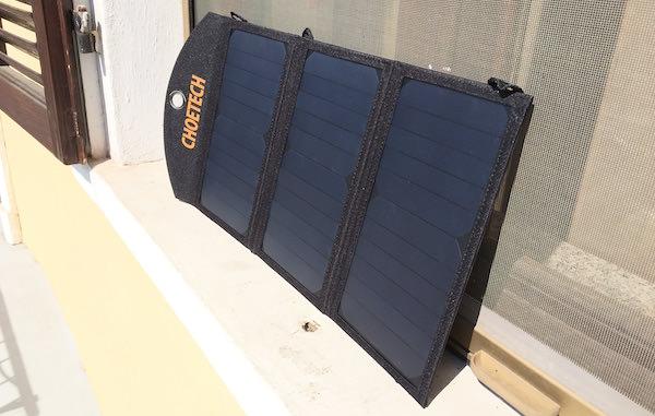 caricabatterie solare choetech sole diretto