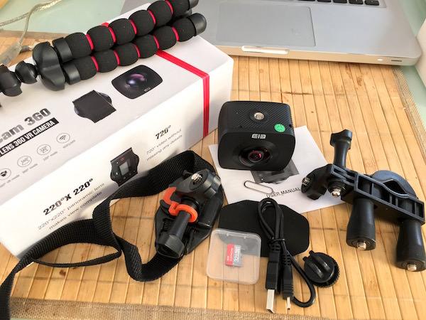 contenuto confezione elephone elecam 360