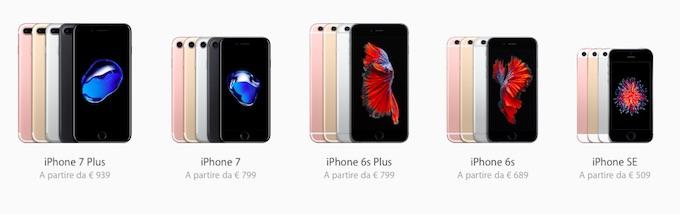 linea prodotti iphone 7