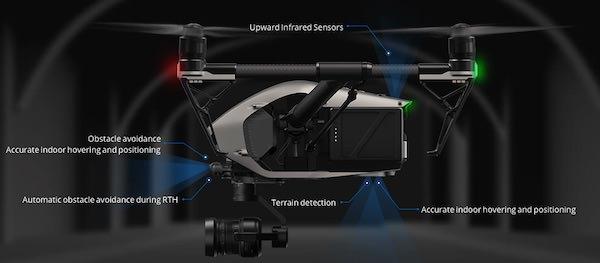 eliche sensori drone dji inspire 2