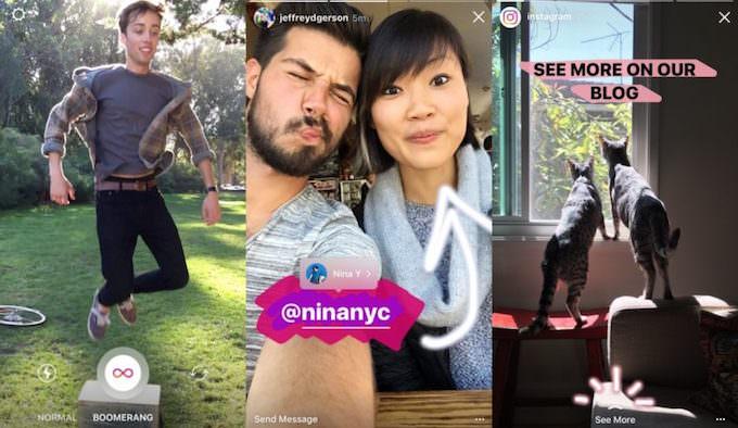 instagram inserisce boomerang nelle storie