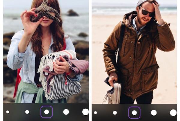 usare patch effetto sfocato iphone ipad