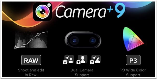Camera+ 9 aggiorna raw e doppia lente iphone