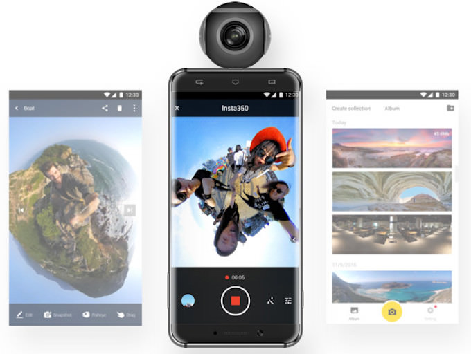 fotocamera insta360 air android smartphone