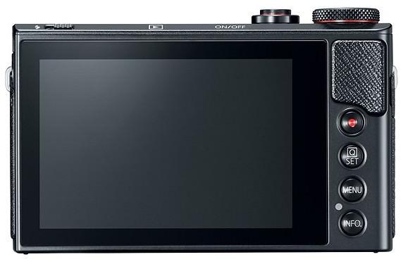 display touchscreen Canon PowerShot G9 X Mark II