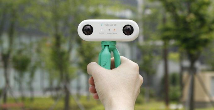 fotocamera twoeyes vr 360 gradi