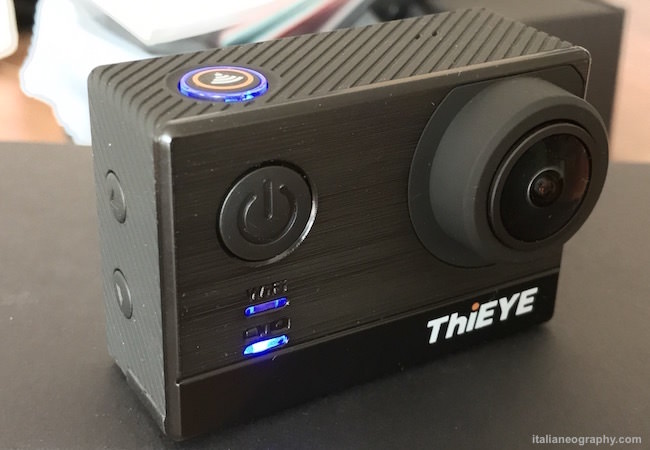 recensione test thieye t5 action cam 4k