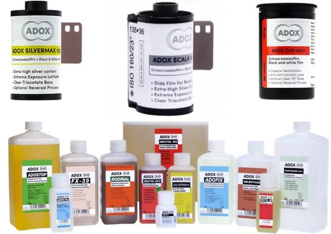 ADOX pellicole fotografiche prodotti chimici
