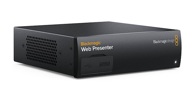 blackmagic web presenter converte video come webcam