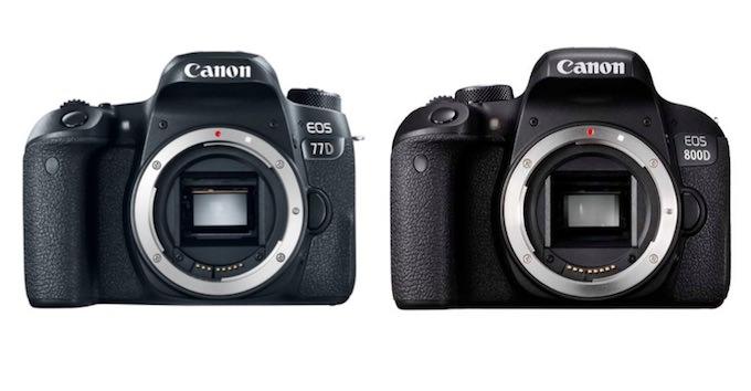 caratteristiche Reflex Canon EOS 77D e Canon EOS 800D