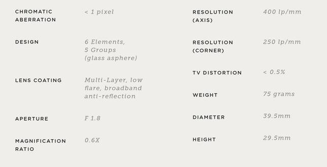 caratteristiche lente grandangolo moment per iphone 7