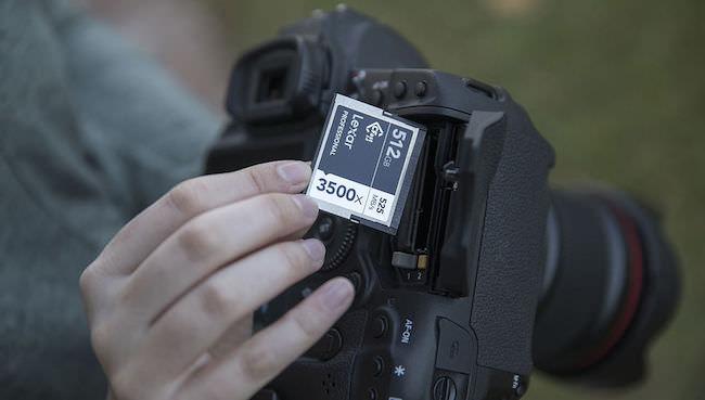 nuova scheda memoria lexar professional 512GB