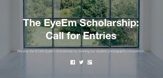 concorso fotografico eyeem scholarship
