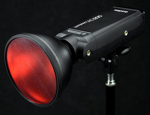 filtro rosso accessori testa flash godox ad200