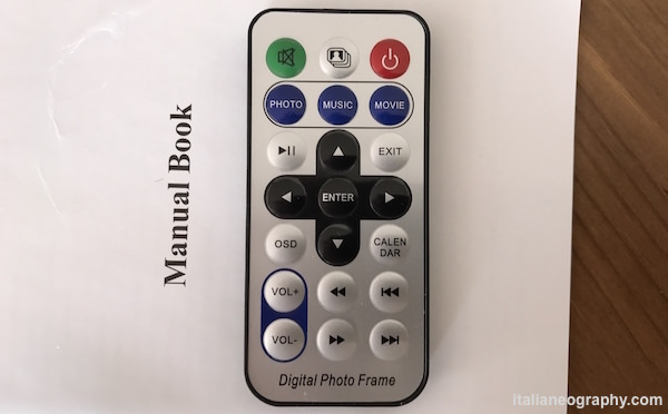 "telecomando remoto cornice digitale andoer 8"""
