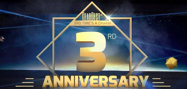 terzo anniversario gearbest 2017