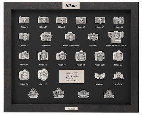 collezione pin nikon anniversario