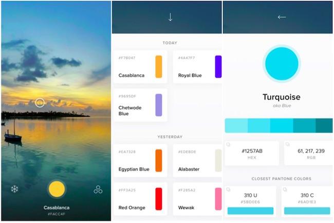 caratteristiche cone live color picker per iphone