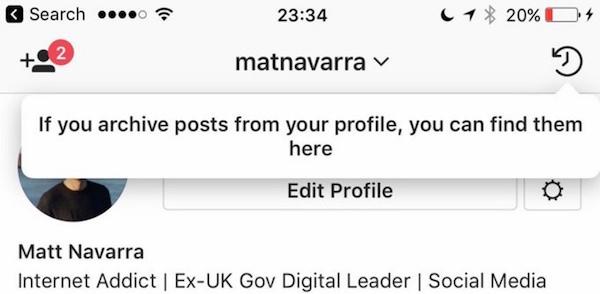 come archiviare foto instagram senza cancellarle