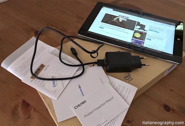 contenuto confezione chuwi hi10 pro tablet ultrabook