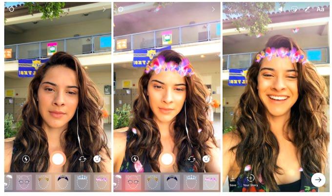 nuovi filtri selfie instagram