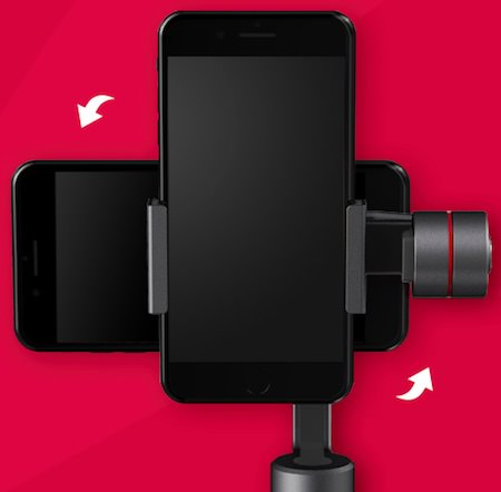 posizione orizzontale verticale smartphone zhiyun smooth 3