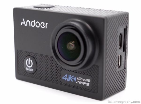 action cam andoer fotografata con lightbox zecti