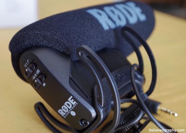 comandi frequenze rode videomic pro rycote lyre