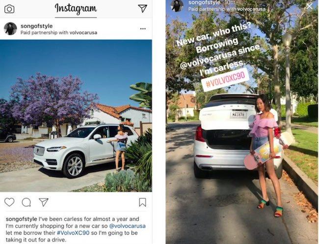 instagram tag per foto sponsor a pagamento