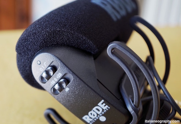 opzioni comandi microfono rode videomic pro rycote lyre