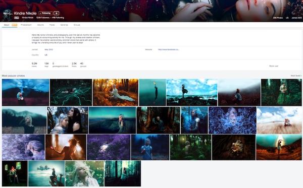 pagina showcase flickr