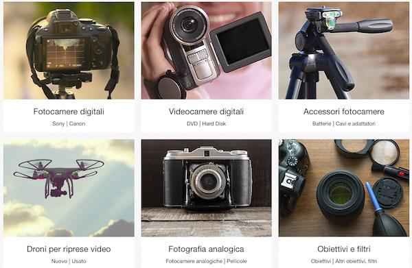reparto fotocamere ebay italia