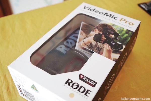 scatola confezione rode videomic pro rycote lyre