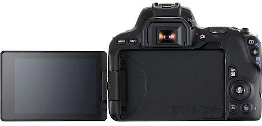 schermo display canon eos 200D