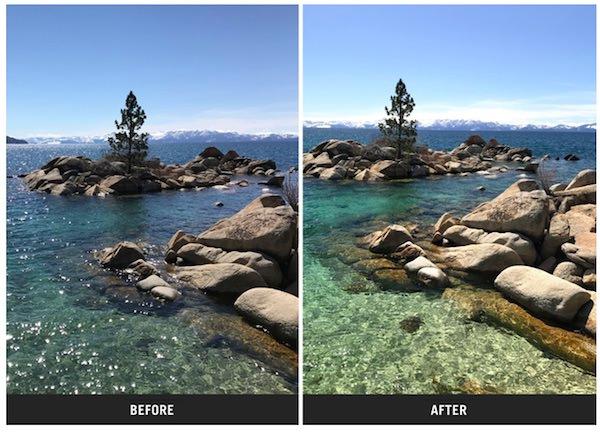 uso filtro polarizzante sandmarc